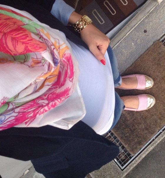 Outfit mit den berühmten H&M Espadrillas.