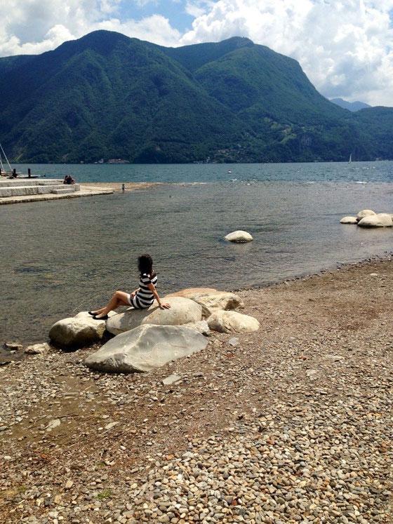 Schöne Aussichten in Lugano (Schweiz)