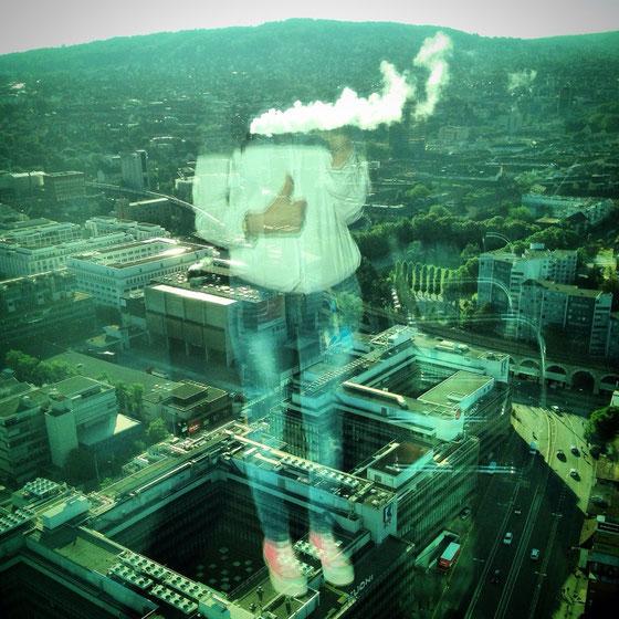 Ich schwebte über Zürich...