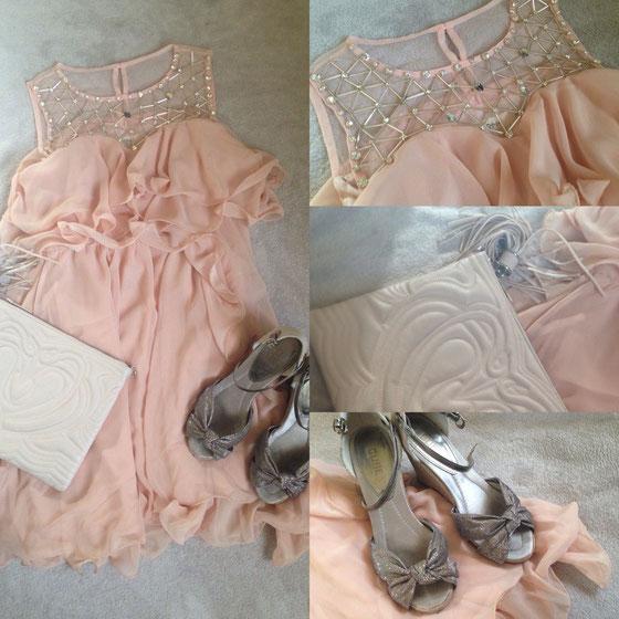 Kleid: über mein Minipopup Store, Sandalen: Bata, Tasche: Kleiderkorb