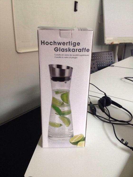 Ein weiteres Geschenk von einer Freundin (damit ich genug trinke) :-D