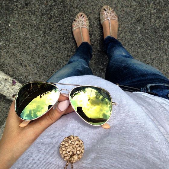 Meine neue Sonnenbrille (günstige Alternative zu Rayban, bei Claire's gefunden)