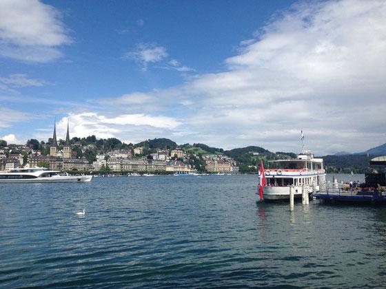 ...und in Luzern spazieren war ich auch.. wunderschöne Stadt!