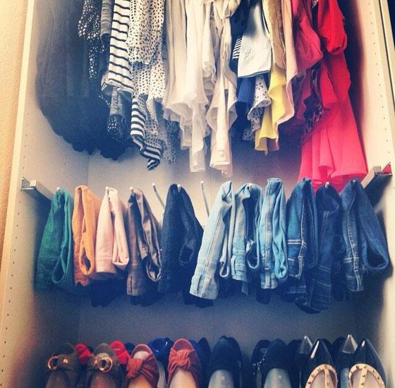 Mein Kleiderschrank ausgemistet <3 alles Ausgemistete in meinem Kleiderkorb erhältlich!