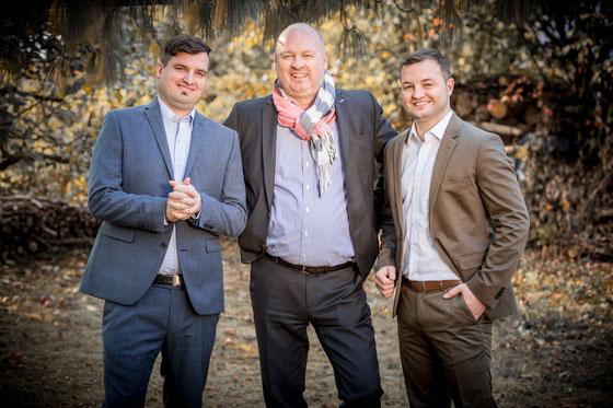 Christian, Rudolf und Pascal Fleischmann Geschäftsführung Fleischmann Mietwäsche GmbH