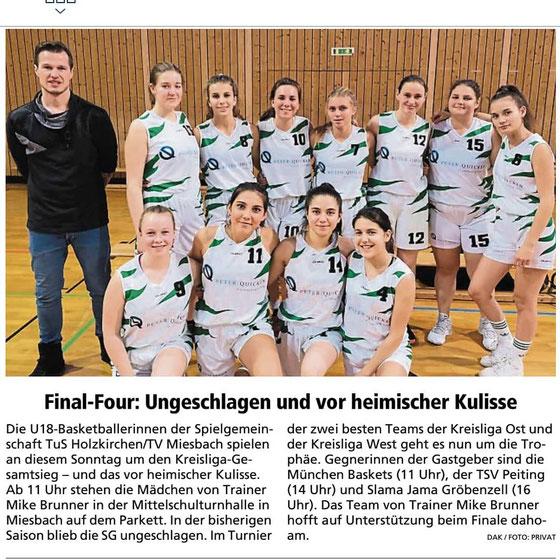 Artikel im Miesbacher Merkur am 4.5.2019 - Zum Vergrößern klicken