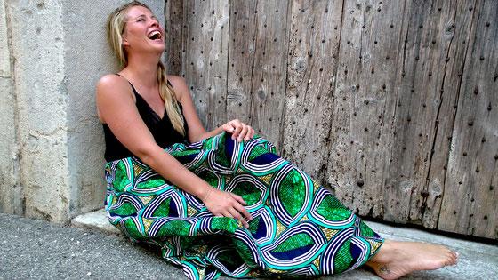 Jupe longue en wax - Jupe d'été colorée