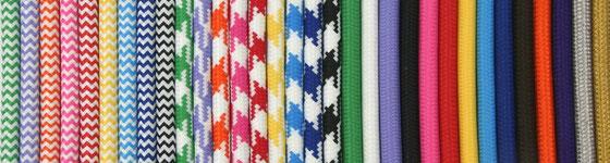 Bunte Kabel textilkabel textilkabel und leuchtmittel shop