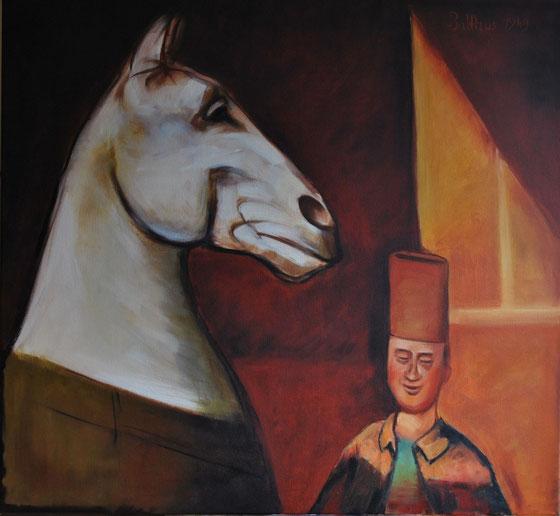 Balthus The Spahi and his horse 1949  60 x 65 cm