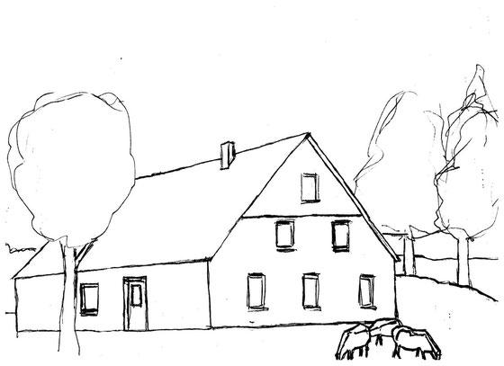 Malvorlage Bauernhaus