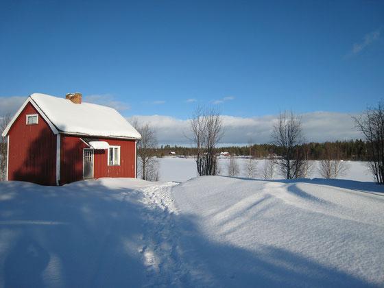 """Vorlage """"Hütte im Schnee"""" von Betina B."""