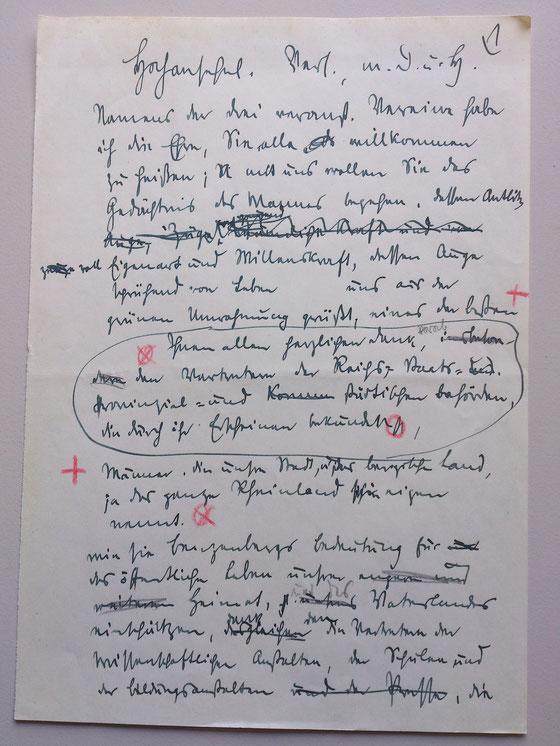 Quelle: Nachlass Dr. Constantin Nörrenberg. Universitäts- und Landesbibliothek Düsseldorf. Signatur: slg 45/Dok