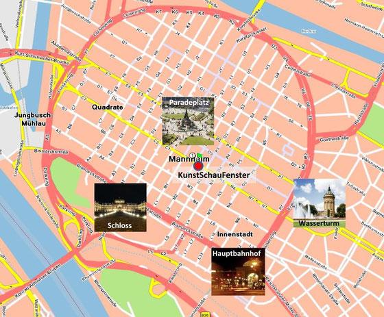 Lageplan:O2, 68161 Mannheim