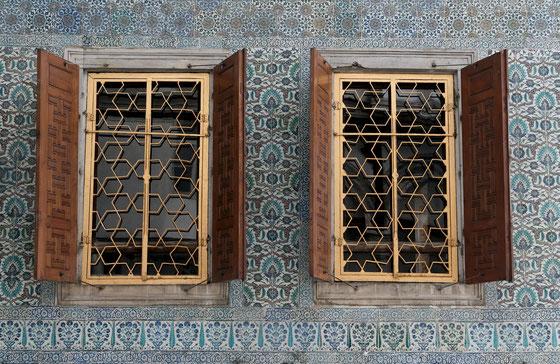 Istambul,Janvier 2008,fenêtres du Harem à TopKapi