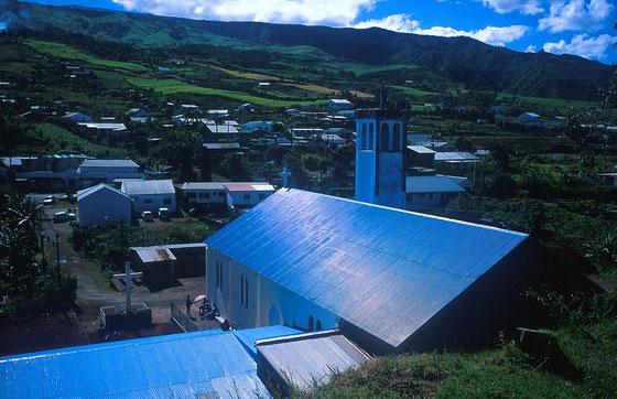 Réunion,Eglise en tôle bleue,Août 1999
