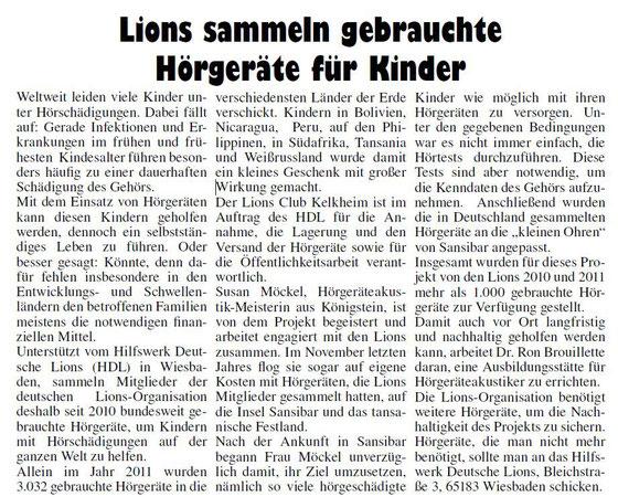 Kelkheimer Zeitung, Ausgabe 14 / 5. April 2012