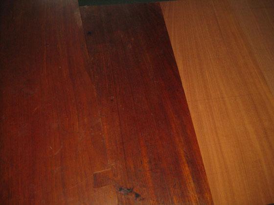 家具時代の塗装はそのままで引き渡し