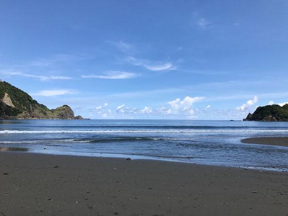 集落のプライベートビーチ