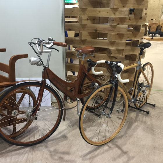 木を使った自転車