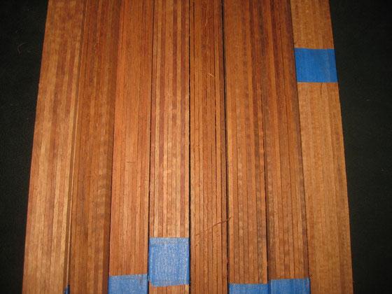 トップ側、バック側、指板~ヘッド、スペア各2の計8Pセット
