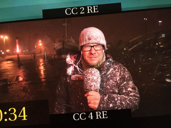 So sah das Livebild im Schaltraum des NDR aus. (Foto: Bill Schneider, Kamera: Arndt Deecke)