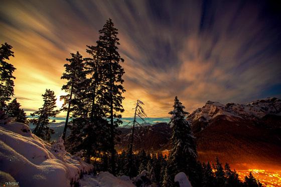 Hirtensteig bei Mondlich Richtung Mt. Skyman immer wieder ein Traum...