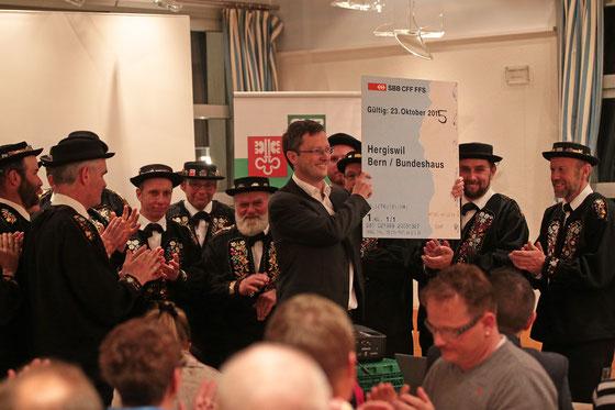 Nomination in Hergiswil im März 2015 (beide Fotos © Roger Zbinden / Neue Luzerner Zeitung)