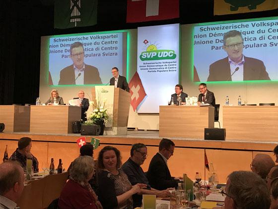 Delegiertenversammlung der SVP Schweiz zum Parteiprogramm_Januar 2019