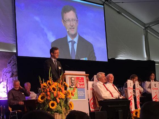 Nationale Gedenkfeier zu 600 Jahre Bruder Klaus im Flüeli-Ranft. August 2017