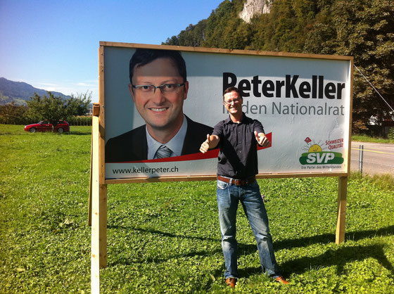 Mitten im Wahlkampf... Das Plakat und sein Original (Herbst 2011)