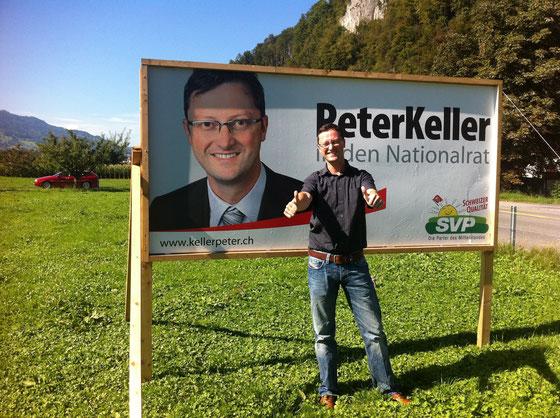 Mitten im Wahlkampf... Das Plakat und sein Original (Herbst 2011)