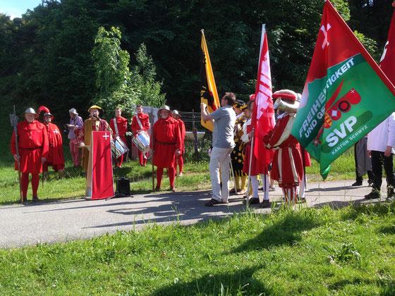 Fraktionsausflug der SVP. Rede zu den Ereignissen rund um Morgarten 1315 und ihre Bedeutung für die Schweiz (Juni 2014).