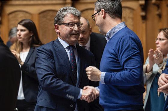 Nicht nur mein Nachbar und Fraktionskollege - auch ein guter Freund: Heinz Brand bei seiner Wahl zum Vize-Präsidenten des Nationalrats. Wintersession 2018