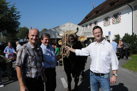 Ueli Amstad, Res Schmid, Stier Jonas, Peter Keller (von links nach rechts...)