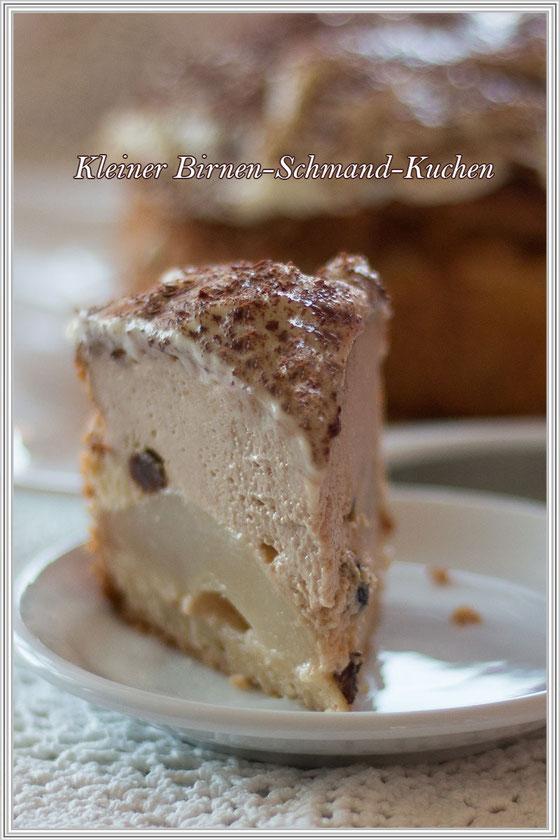 Rezept für einen kleinen Birnen-Schmand-Kuchen-Rezepteblog © Jutta M. Jenning mjpics