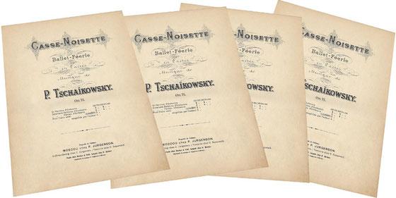 Щелкунчик, Чайковский, лёгкое переложение автора, ноты для фортепиано