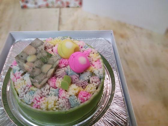 和菓子のケーキ 「花」