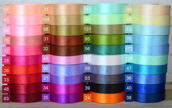 Farbpalette Satinbänder