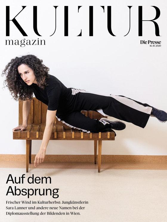Sara Lanner - Cover Kulturmagazin Die Presse