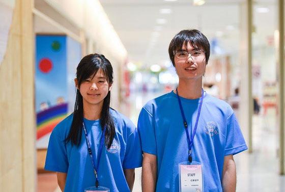 左から西澤江里さん(2年)、近藤凌平くん(2年)
