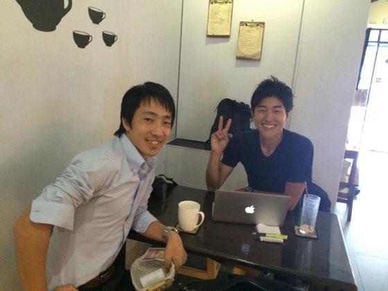 ミャンマーでお会いした日系コンサル会社の桂川さんとは旅中に何度も連絡し合いました。