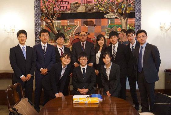 日本チームが担当したカーボヴェルデ共和国の代表部を表敬訪問 写真提供:グローバルクラスルーム日本委員会