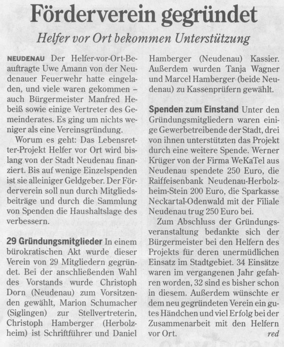 Heilbronner Stimme 14.07.2010