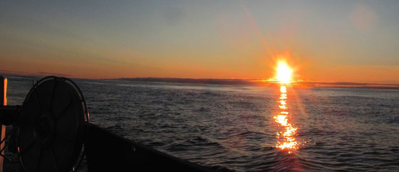 Barentssee. Mitternacht. Am Rand des Arktischen Ozeans. 68°9´N 40°21´E