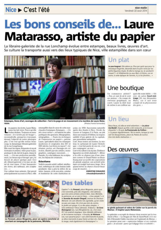 Article Nice Matin du 22/08/2014