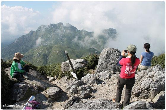 2014年10月の宮之浦岳縦走ツアー風景(女性一人旅限定企画)