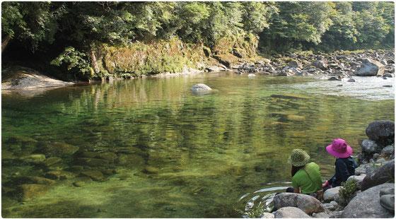 縄文杉トレッキングの風景