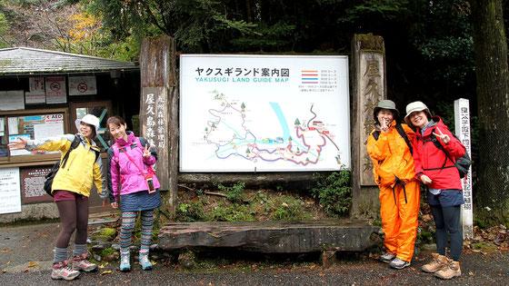 太忠岳登山は、ヤクスギランド入り口から(太忠岳ガイドツアー)