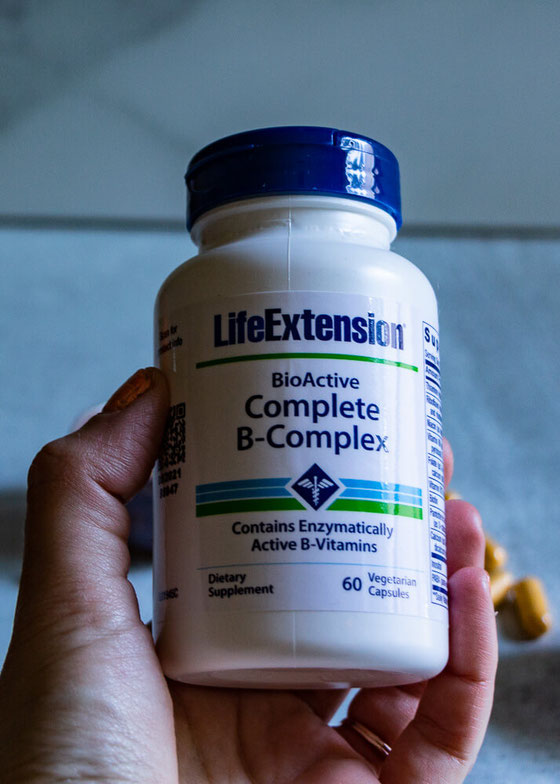 Curious about the benefits of B vitamins? Do you need a B complex vitamin? Find out what my vegetarian supplement recs are in my @LifeExtension blog post. #ad #LiveBetter #LifeExtension #vitamins #Bvitamins #vitaminB12 #vegetarian #nutrition