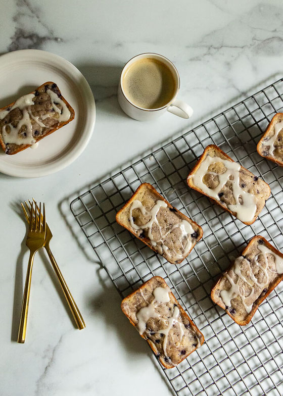 Need recipe ideas for mini cakes? Learn how to make these easy wild blueberry mini bundt cakes!